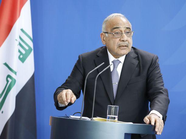 Irakin pääministeri Adel Abdul al-Mahdi pitää amerikkalaisjoukkojen poistumista maasta myös Yhdysvaltojen etujen mukaisena.