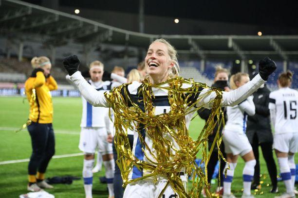 Linda Sällström teki voittomaalin Helmarien voitossa Portugalista.