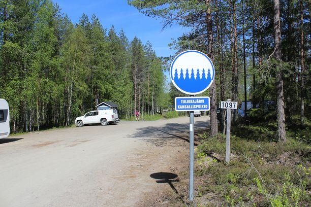 Katoaminen tapahtui Tiilikkajärven kansallispuiston läheisyydessä.