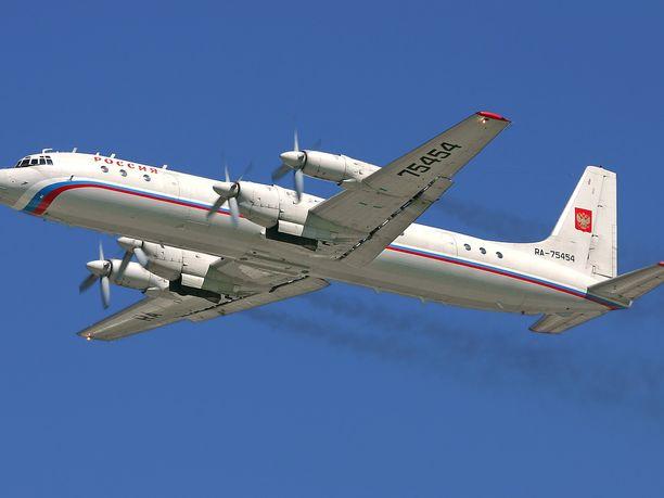 Venäläiskone oli mallia IL-20. Kuvassa IL-18.