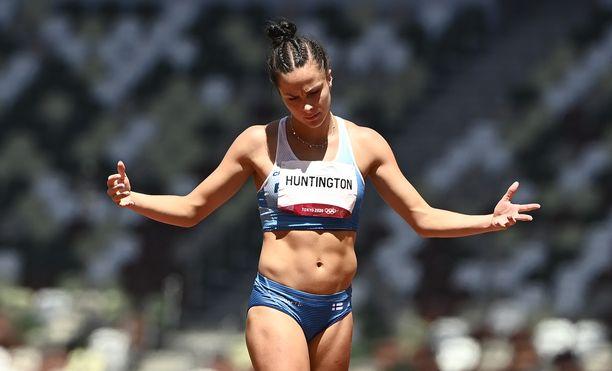 Maria Huntington edusti Suomea Tokion olympialaisissa.
