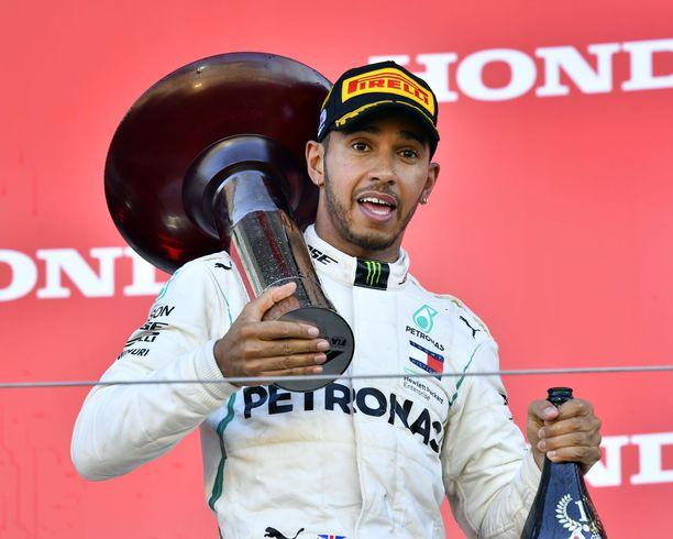 Lewis Hamilton metsästää uransa viidettä maailmanmestaruutta.