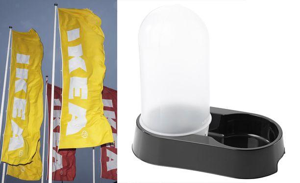 Ikea pahoittelee tapahtunutta ja vetää vesiautomaatit myynnistä.