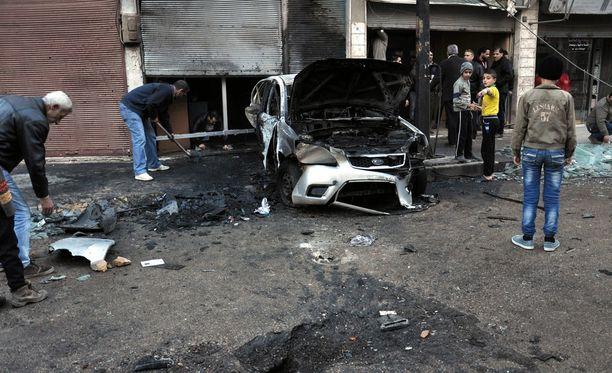 Homsissa on tehty useita tuhoisia iskuja. Kuva on kaupungista kahden viikon takaa.