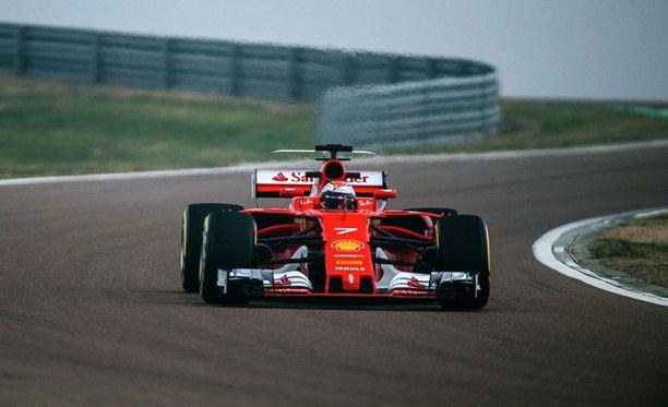 Kimi Räikkönen testasi uutta Ferraria viime perjantaina Fioranossa.