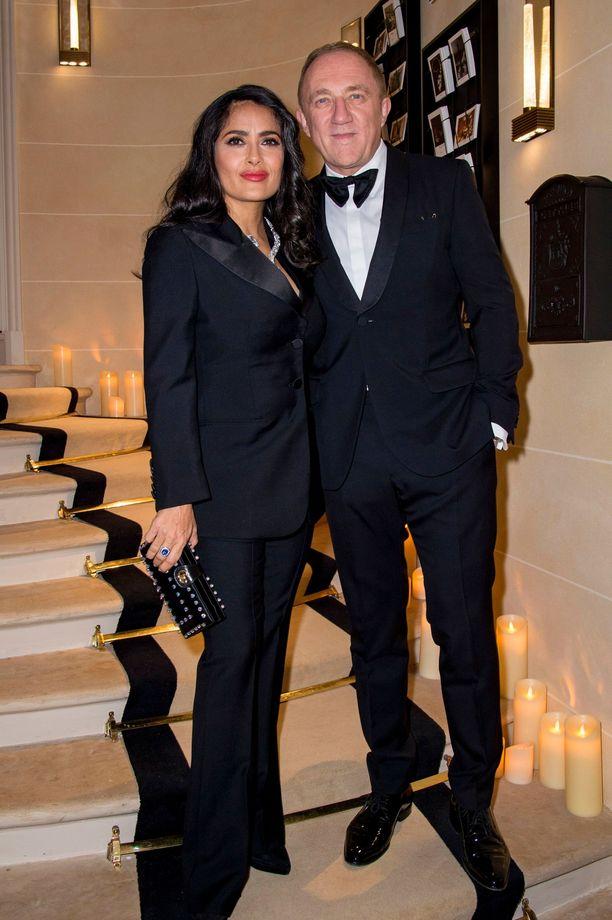 Salma Hayek, 52, ja puoliso Francois-Henri Pinault, 56