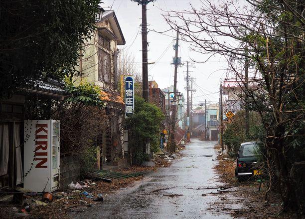 Fukushiman katukuvassa aika on pysähtynyt ydinonnettomuuden hetkeen.