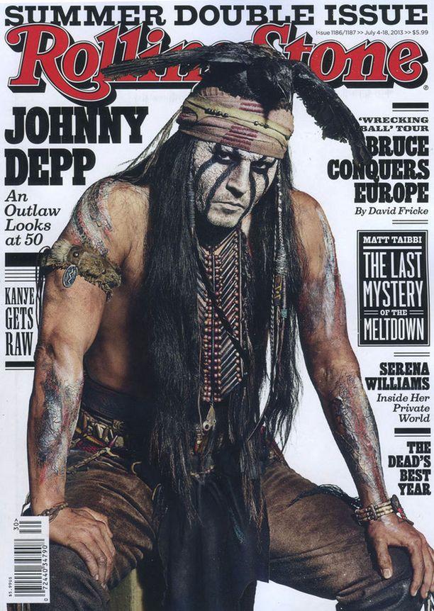 Tältä Depp näyttää Rolling Stone -lehden tuoreessa kannessa.