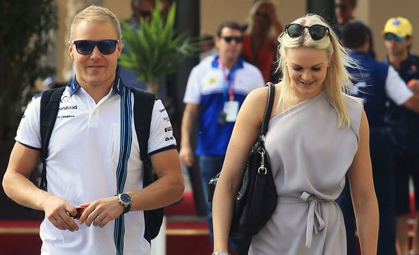 Valtteri Bottas ja Emilia Pikkarainen ovat tuttu näky F1-sirkuksessa.
