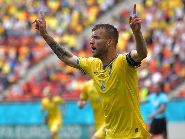 Andri Jarmolenko on tehnyt EM-kisoissa kaksi maalia.