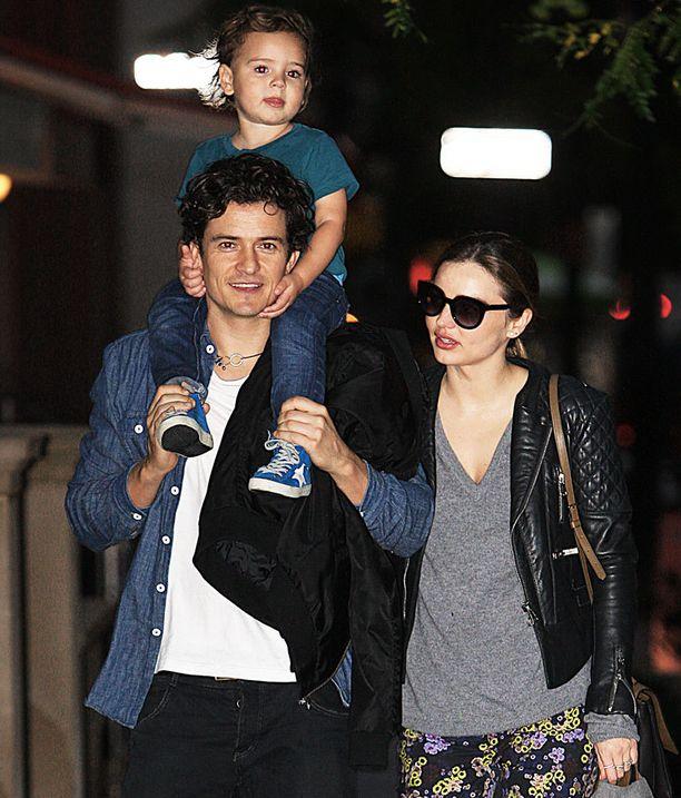 Miranda Kerr ja Orlando Bloom kuvattiin yhdessä Flynn-poikansa kanssa lokakuun alussa.