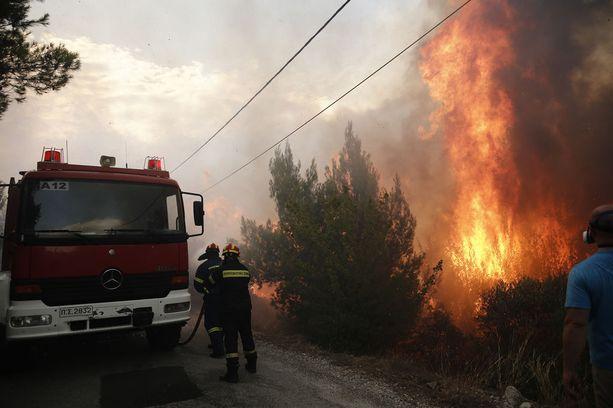 Palojen sammuttamiseen on tarvittu palljon pelastushenkilökuntaa.