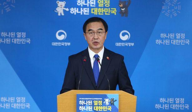 Etelä-Korean yhdistymisministeri Cho Myoung-gyon ehdotti tiistaina korkean tason neuvotteluja Koreoiden välillä ensi tiistaiksi.