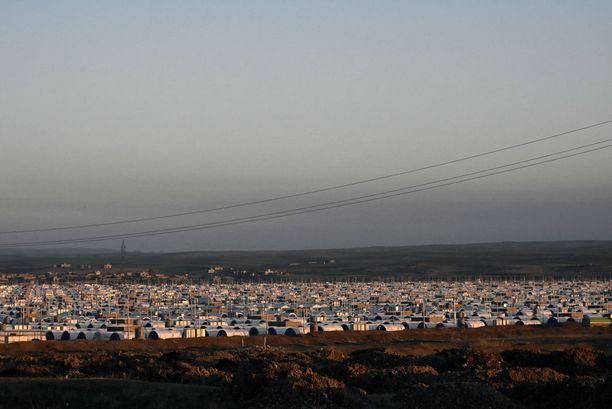 Pakolaisleiri Mosulin ja Erbilin kaupunkien välissä.