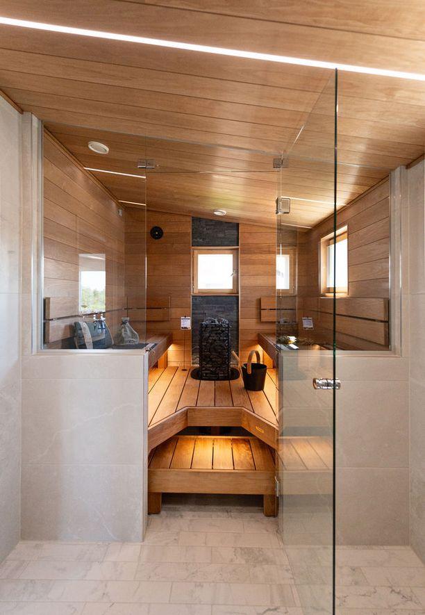 Villa Poijun sauna kutsuu löylyttelijää.