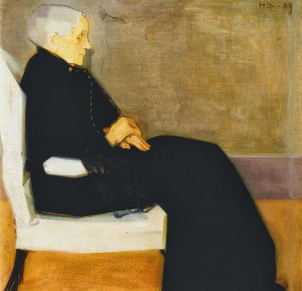 Helene Schjerfbeck, Äitini (1909).