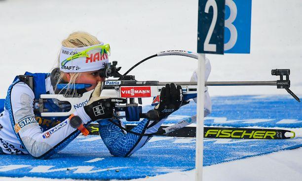 Mari Eder ei onnistunut Kontiolahden maailmancupin pikakilpailussa.