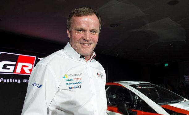 Tommi Mäkinen on Toyotan rallitallin omistaja ja päällikkö.