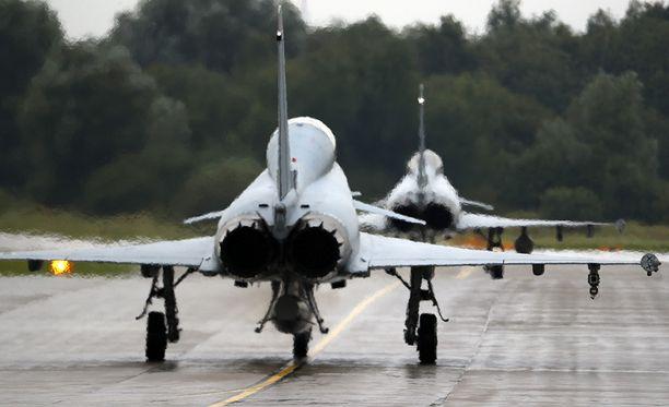 Eurofighter Typhoon on yksi ehdokas Suomen ilmavoimien Hornetien korvaajaksi.