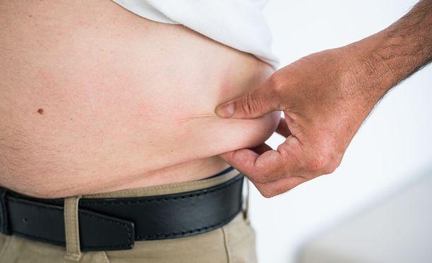 THL:n laajasta FinTerveys-väestötutkimuksesta käy ilmi, että suomalaiset ovat aiempaa lihavampia. Kuvituskuva.