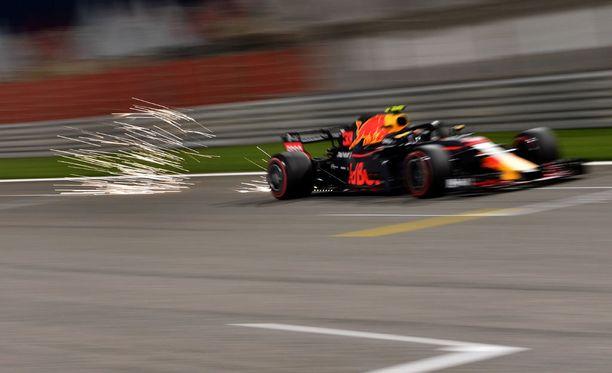 Max Verstappen joutui keskeyttämään.