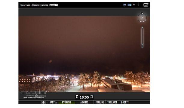 Varsinainen kaamos alkaa Hetan kylässä suurin piirtein 6. joulukuuta. Kaamoskamera on kuitenkin käynnissä jo nyt.