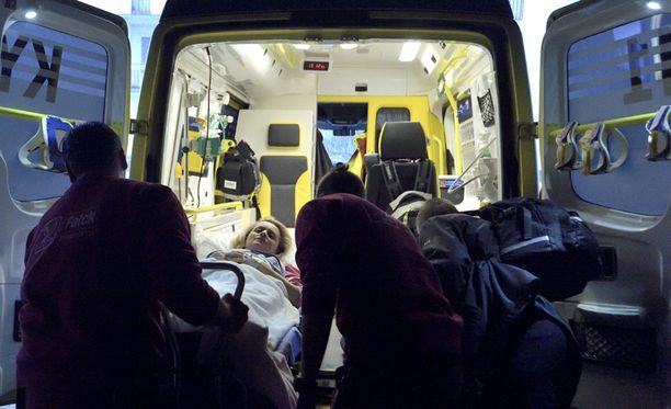 Päivi Räsänen tuotiin maanantaina Töölön sairaalaan.