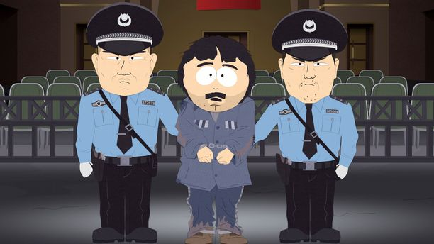 Animaatiosarjan 23. tuotantokauden toisessa jaksossa Randy joutuu ongelmiin Kiinassa.
