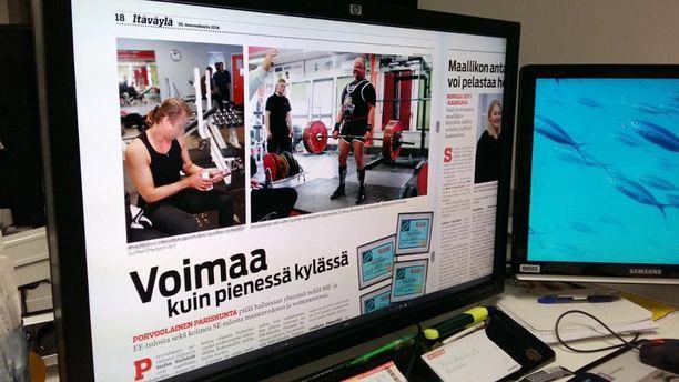 Voimanostopariskunta esitteli lajiaan ja mestaruuksiaan Itäväylä-lehdessä keskiviikkona samana päivänä, kun hovioikeus antoi tuomionsa.