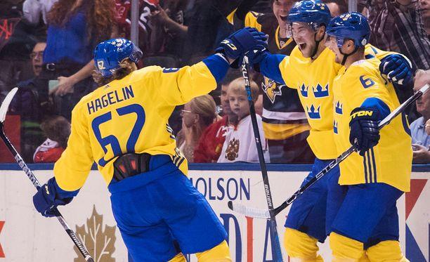 Ruotsi juhli 2-1-voittoa Venäjästä.