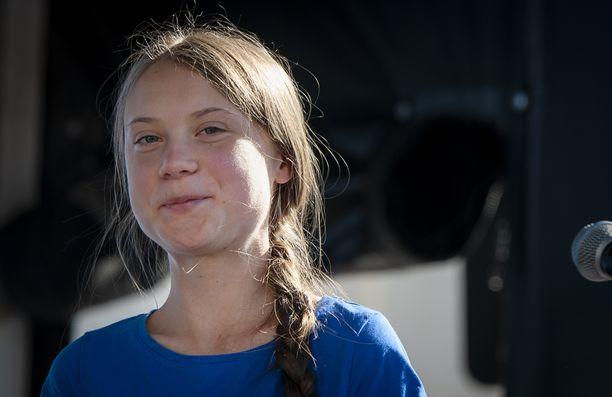 Greta Thunberg on matkalla Madridiin.