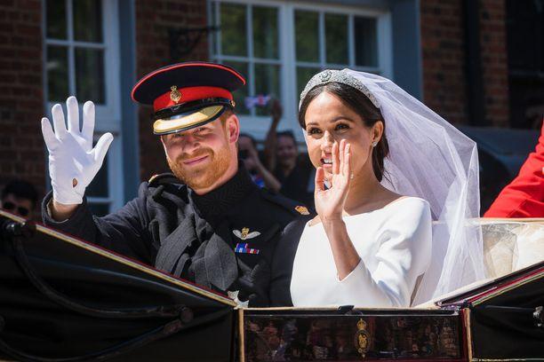 Prinssi Harry ja Meghan vihittiin viime vuoden toukokuussa.