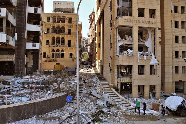 Pellosniemi työskentee Twitter-tilinsä mukaan YK:n tasa-arvojärjestössä UN Womenissa Beirutissa. Kuvaa Beirutista 5.elokuuta.