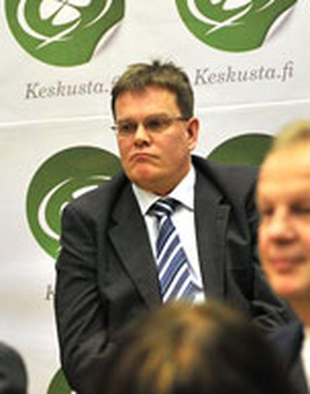 Jarmo Korhonen tammikuussa Keskustan tilaisuudessa puoluetoimistolla.