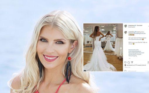 Kihlautunut Pia Lamberg sovittelee häämekkoja: Tuskailee valinnan vaikeutta