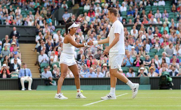 Heather Watson ja Henri Kontinen etenivät Wimbledonissa toiselle kierrokselle.