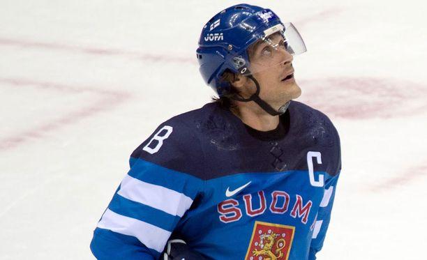 Teemu Selänne edusti Leijonia viimeistä kertaa Sotshin olympiakisoissa.