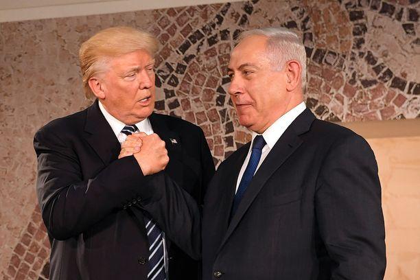 Israelin Benjamin Netanjahu sai kokea Trumpin riuhtaisun.