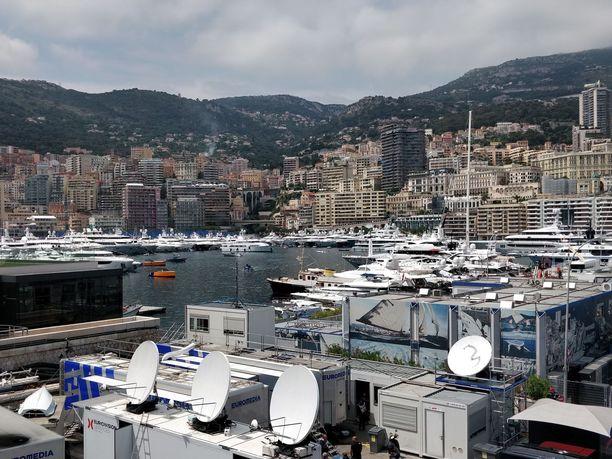 Monacon satamassa on GP-viikonloppuna ahdasta.