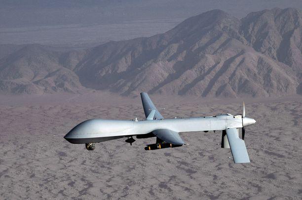 Isis-komentaja surmattiin mahdollisesti liittouman ilmaiskulla. Arkistokuvassa Yhdysvaltojen miehittämätön MQ-1 Predator -kone Afganistanissa.