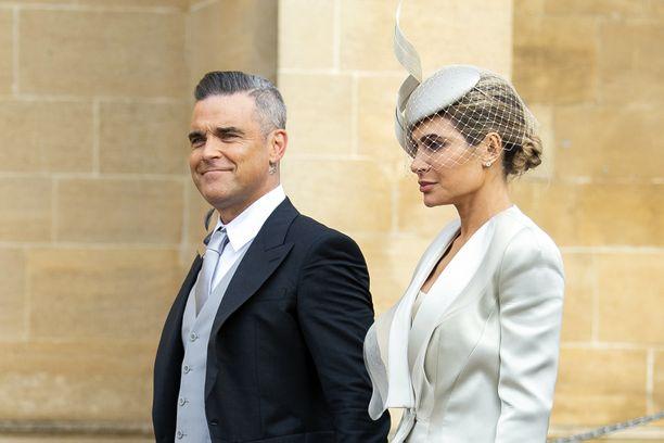 Robbie Williams ja Ayda Field olivat vieraina viime syksynä prinsessa Eugenien häissä.