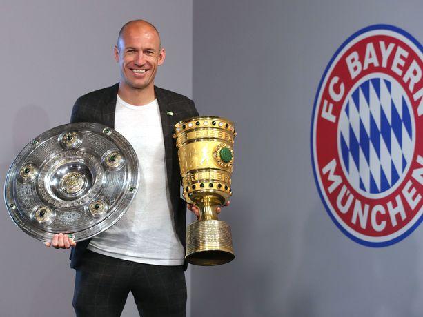 Robben niitti menestystä Bayern Münchenin riveissä.