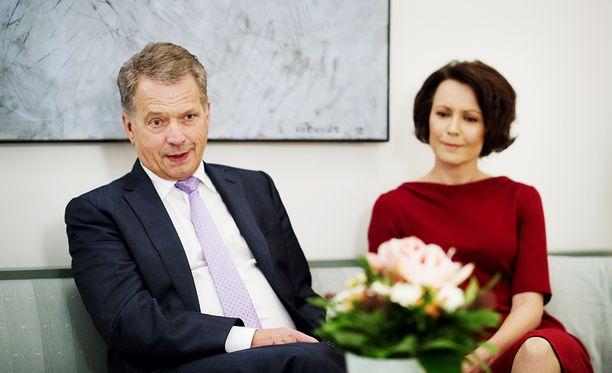 Tasavallan presidentti Sauli Niinistö ja puoliso, rouva Jenni Haukio.