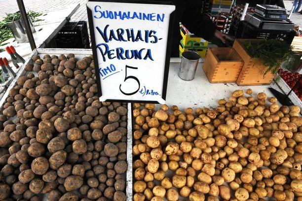 Mikäli haluaa varmistaa perunatarjoilut valmistujaisjuhliin, kannattaa varhaisperunaa etsiä suoraan tuottajilta, toreilta ja kauppahalleista.