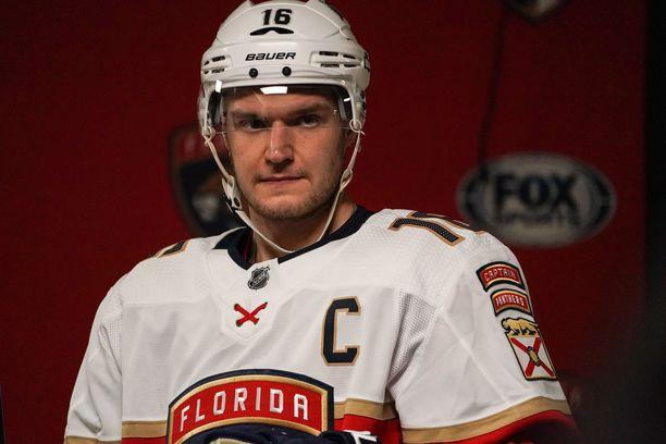Aleksander Barkov toimii Florida Panthersin kapteenina.