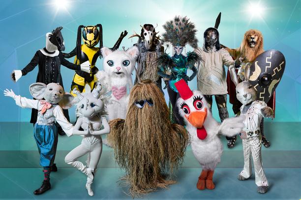 Kuvan hahmot tullaan tuntemaan nimillä Hevonen, (ylärivi vas.) Ampiainen, Kisu, Shamaani, Peacock, Alien, Leijona, Söpö (alarivi vas.) Dragon, Heinäseiväs, Kana ja Pupu.