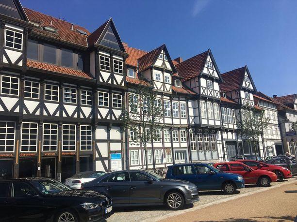 Wolfenbüttelin keskusta on yhtenäisen näköinen, sillä se säästyi toisen maailmansodan tuhoilta.
