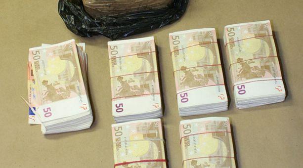 Kätköstä löytyi yhteensä yli 160 000 euroa.