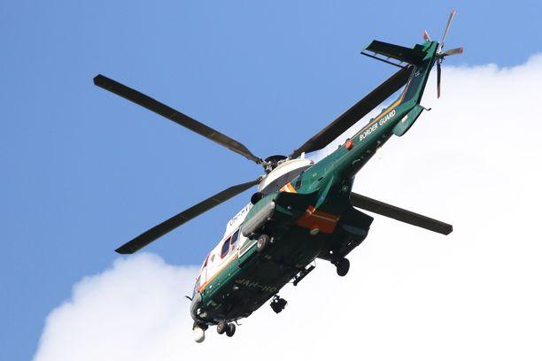 Kadonnut hillastaja havaittiin lopulta Rajavartiolaitoksen helikopterista. Kuvituskuva.
