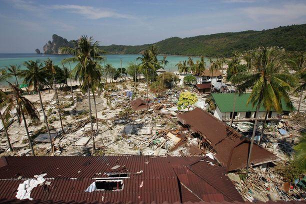 28. joulukuuta 2004 Koh Phi Phin saari, Thaimaa.